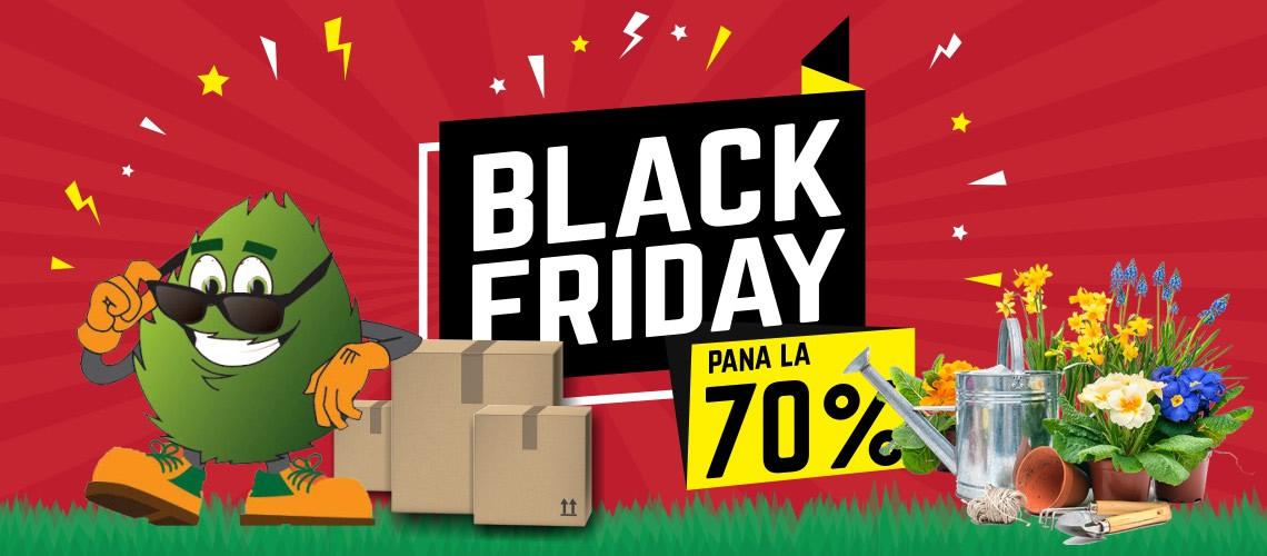 Black Friday in curand cu pana la 70% reducere.